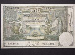 Billet 50 Francs Belgique