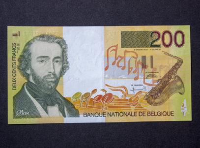 Billet 200 Francs Belgique Adolphe Sax