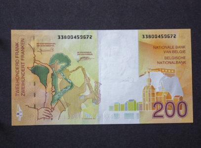 Billet 200 Francs Belgique Adolphe Sax Verso