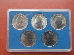 US Quarter 2010 Coin Card