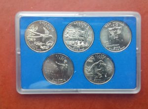 US Quarter 2008 Coin Card