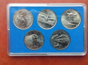 US Quarter 2007 Coin Card