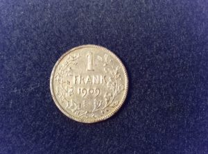 1 Frank 1909 Léopold II