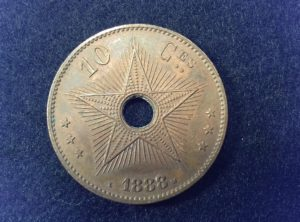 10 Centimes – Congo Belge – 1888