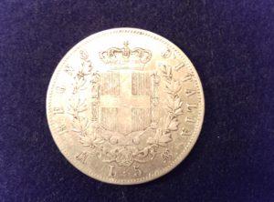 5 lires Vittorio Emanuele II 1869