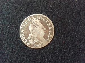 10 Sols aux 4 Couronnes – 1/8 Ecu – Louis XIV 1705