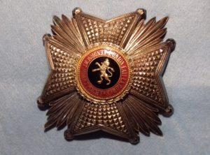 Plaque Officier Ordre de Léopold I