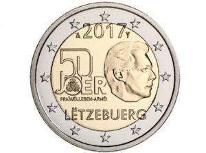2€ Luxembourg 2017 – 50ans Volontariat de l'armée Luxembourgeoise
