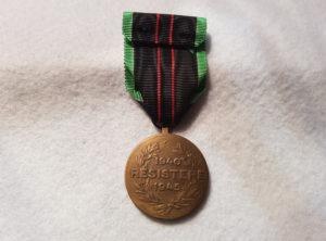 Médaille de la résistance 1940-1945