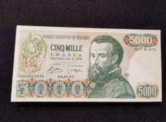 5000 Francs – Belgique – André Vesalius – 05.07.77
