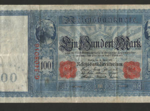 100 Mark – ReichsBanknote – 21 April 1910