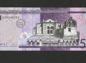 50 Pesos – République Dominicaine – 2014 FDC/NEUF