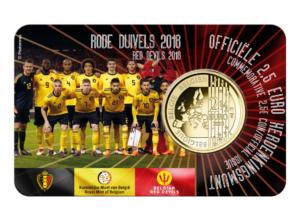2,50 € Diables Rouges – Rode Duivels – 2018