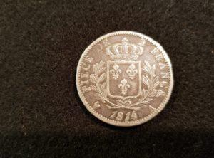 5 Francs – Louis XVIII – 1814 A