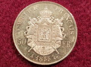 50 Francs – Napoléon III – 1855 A