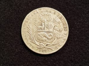 1 Sol – Peru – 1885 R.D.