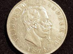 5 Lire – Vittorio E. II – 1871 – M