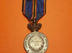 Médaille d'Argent - Société Protectrice des Animaux de Bruxelles - 1886 Neumans