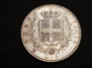 Italie - 1877 - Rome - 5 Lire - Vittorio Emanuel II