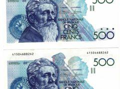 Billet - Belgique - 500 Francs type Meunier Constantin