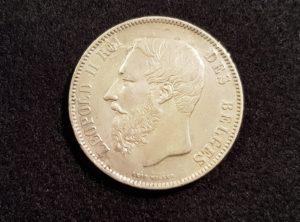 Pièces - Monnaie - Argent - Belgique - 5 Francs 1870