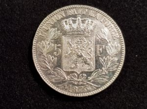 Pièces - Monnaie - Argent - Belgique - 5 Francs 1873
