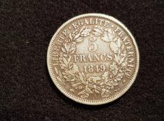France - 5 Francs - Cérès - 1849 - A