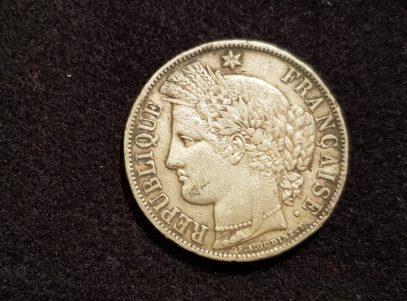 France - 5 Francs - Cérès - 1870 - A