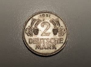 Allemange - 2 Deutsche Mark - 1951 - Nickel