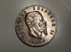 5 Lire - Italie - 1874 - Milan - Vittorio Em II
