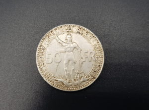 Monnaie - Pièce - Belgique - 50 Francs - 1935 - Chemin de fer - Vlaams