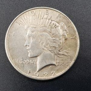 Pièce - Monnaie - 1$ Dollar - Peace - 1922