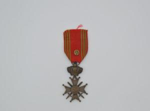Décoration Belgique - Croix de Guerre - 1940 - 1945 - Léopold III