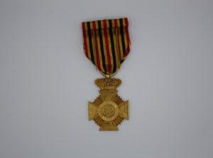 Décoration Belge - Décoration Militaire pour ancienneté de Service OR + Barette