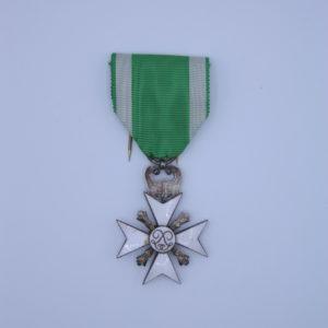 Décoration Belgique - Croix Ancienneté de Service - Garde Civique - Sapeur Pompier - 1898 - 1914