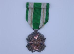 Décoration Belgique - Médaille Ancienneté de Service - Garde Civique - Sapeur Pompier - 1898 - 1914 - Argent