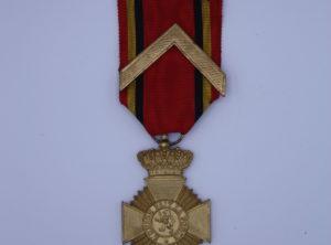 Décoration Belgique - Croix Militaire pour Actes de Courage en Service OR