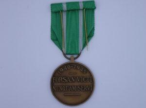 Décoration Belgique - Médaille du Réfractaire - 1940 - 1945 - Forsan Victi Nunquam Servi