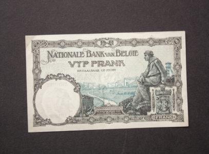 Billet 5 Francs Belgique