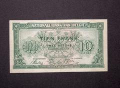 Billet 10 Francs/2 Belgas Belgique