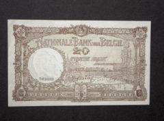 Billet 20 Francs Belgique