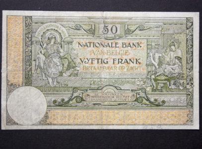 Billet 50 Francs Belgique Vero