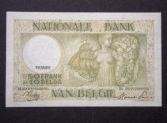 Billet 50 Francs/10 Belgas Belgique