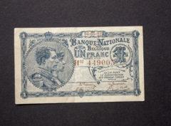 Billet 1 Franc Belgique