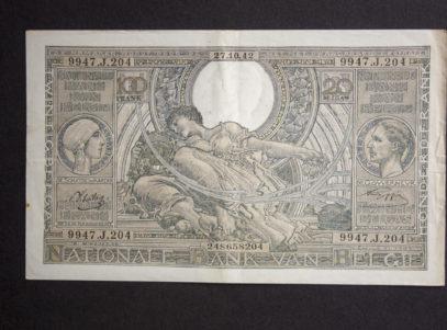 Billet 100 Francs Ou 20 Belgas Belgique