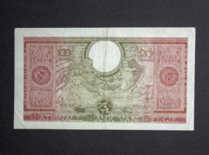 Billet 100 Francs/20 Belgas Belgique