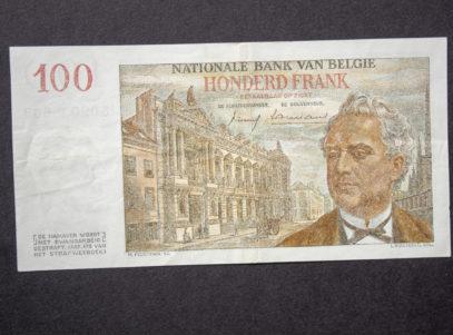 Billet 100 Francs Belgique Verso