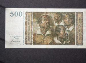 Billet 500 Francs Belgique