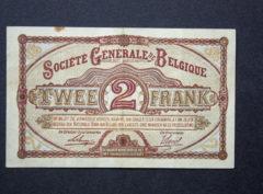 Billet 2 Francs Belgique