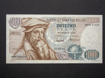 Billet 1000 Francs Type Mercator Belgique
